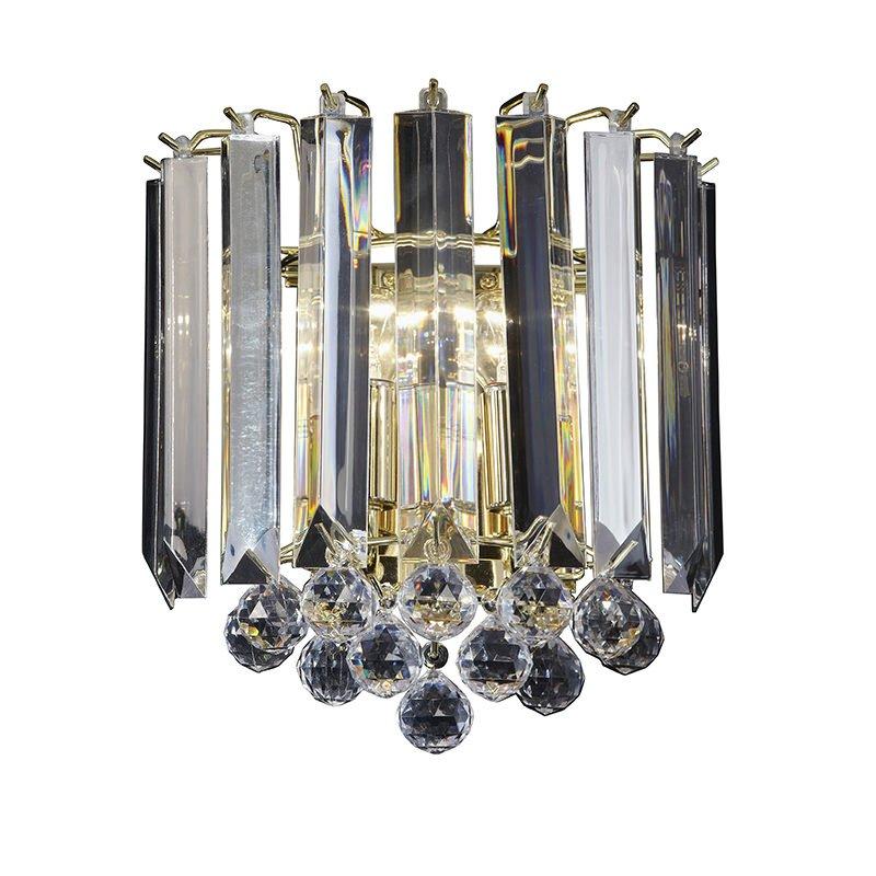 Endon-FARGO-WBBP - Fargo - Brass with Acrylic Detailing 2 Light Wall Lamp