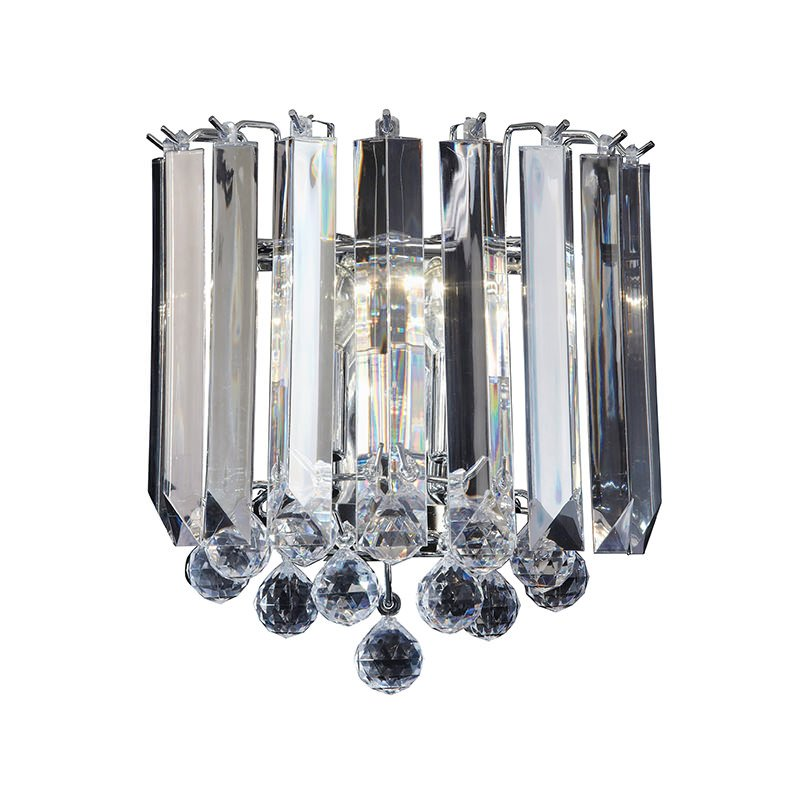 Endon-FARGO-WBCH - Fargo - Chrome with Acrylic Detailing 2 Light Wall Lamp