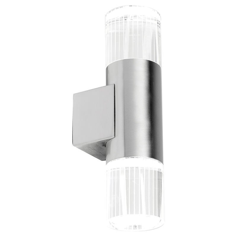 Endon-YG-7501 - Grant - Outdoor LED Crystal Glass with Stainless Steel Wall Lamp