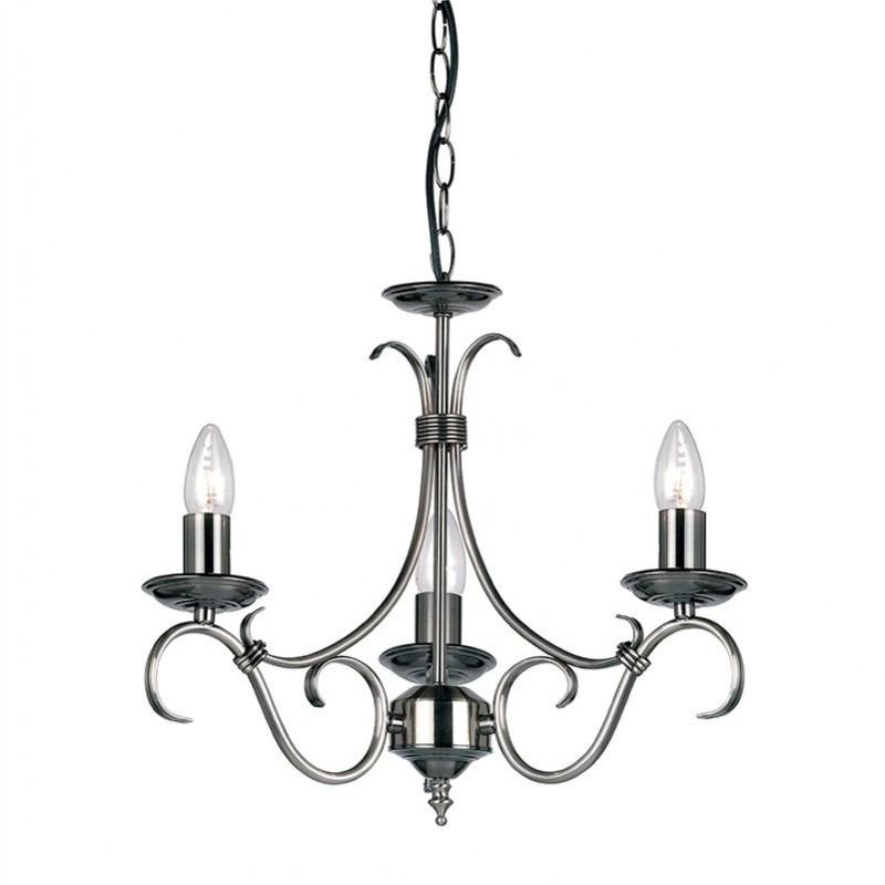 Endon-2030-3AS - Bernice - Antique Silver 3 Light Centre Fitting