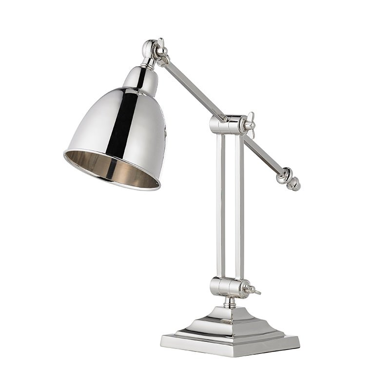 Endon-EH-RASKIN-TL - Raskin - Polished Nickel Desk Lamp