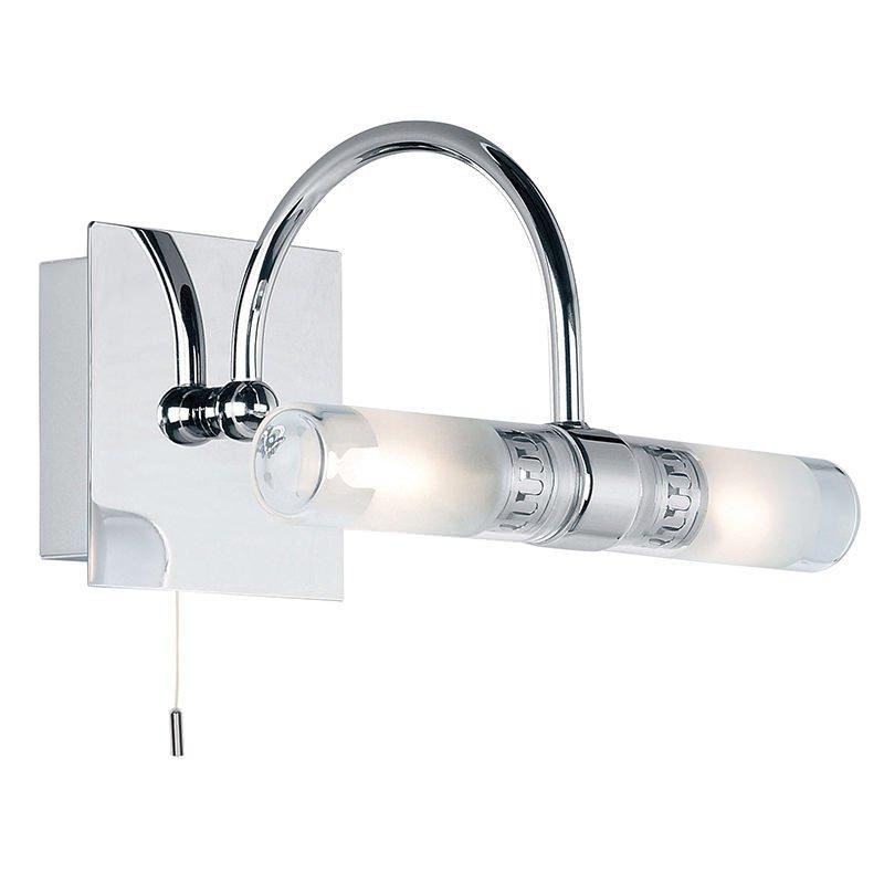 Endon-447 - Shore - Bathroom Chrome with Glass 2 Light Wall Lamp