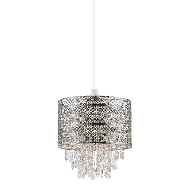 Endon-NE-HAREWOOD-CH - Harewood - Crystal with Chrome Shade for Hanging Pendant