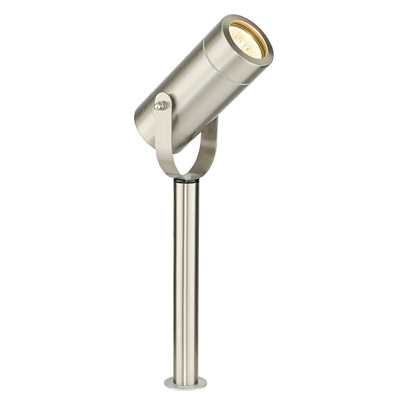 Saxby-13914 - Palin - Outdoor Brushed Stainless Steel Small Spike Spot
