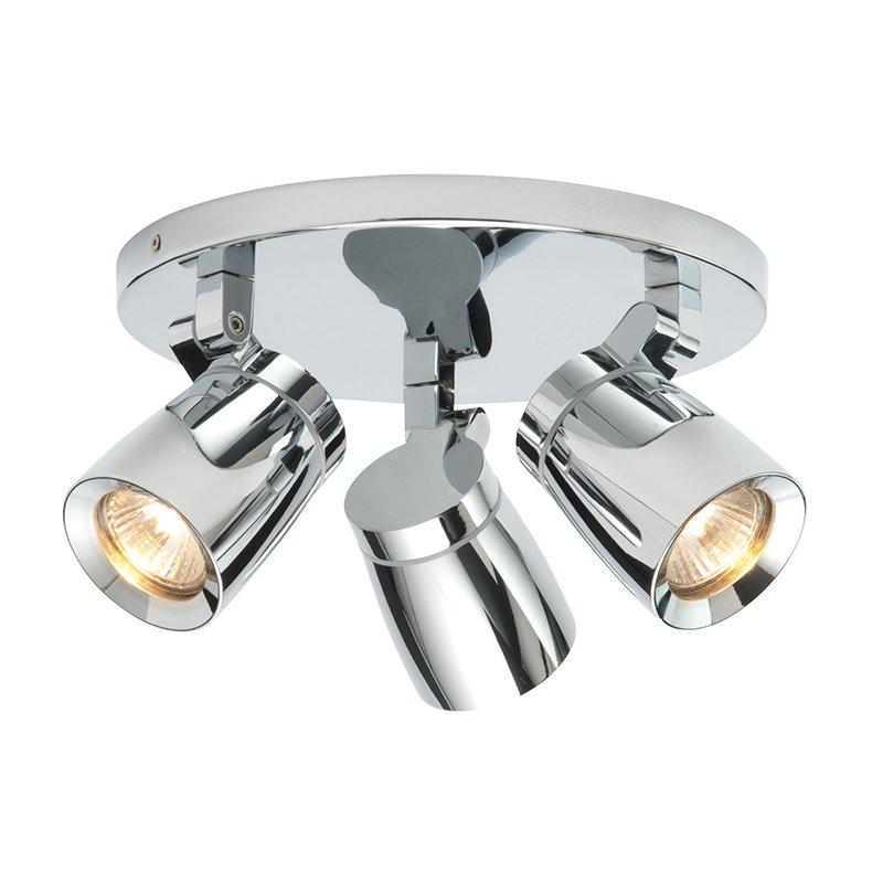 Saxby-39167 - Knight - Bathroom Chrome Round Triple Spotlights