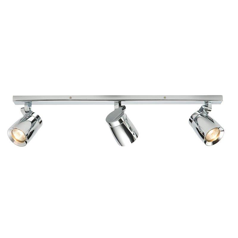 Saxby-39168 - Knight - Bathroom Chrome 3 Light Bar Spotlights