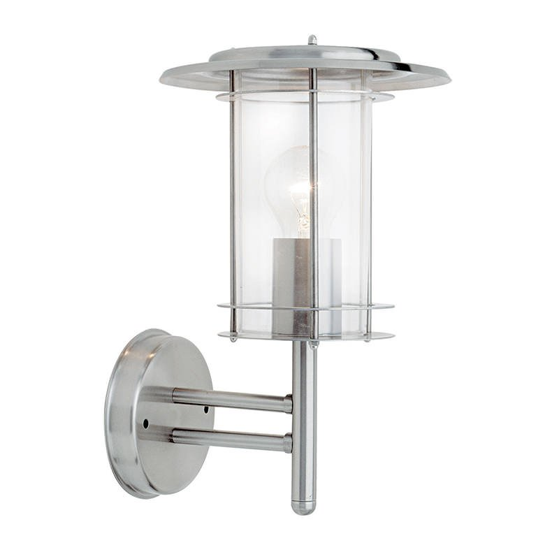 Saxby-4478182 - York - Outdoor Polished Stainless Steel Wall Lamp