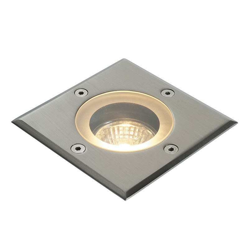 Saxby-GH88042V - Pillar - Outdoor Square Stainless Steel Ground Recessed Light
