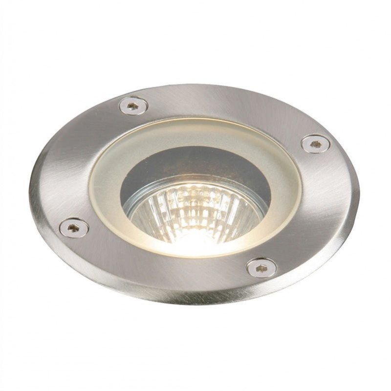 Saxby-GH98042V - Pillar - Outdoor Round Stainless Steel Ground Recessed Light