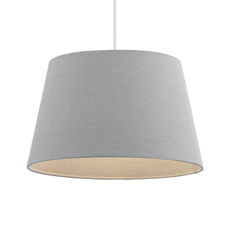 Endon-CICI-10GRY - Cici - 10 inch Grey Linen Shade for Pendant or Table Lamp