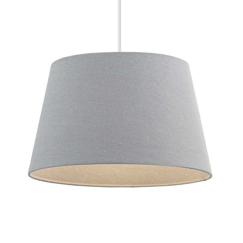 Endon-CICI-12GRY - Cici - 12 inch Grey Linen Shade for Pendant or Table Lamp