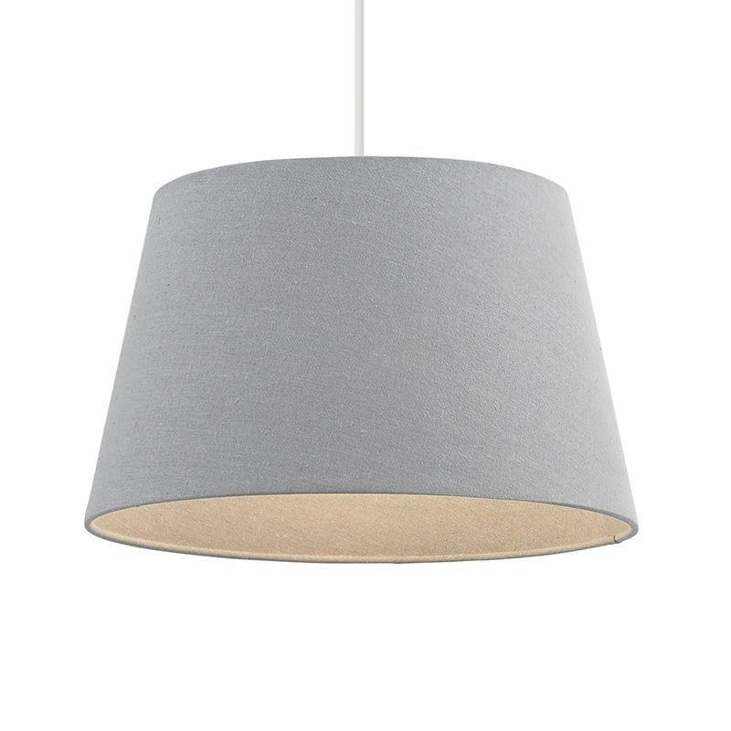 Endon-CICI-16GRY - Cici - 16 inch Grey Linen Shade for Pendant or Table Lamp