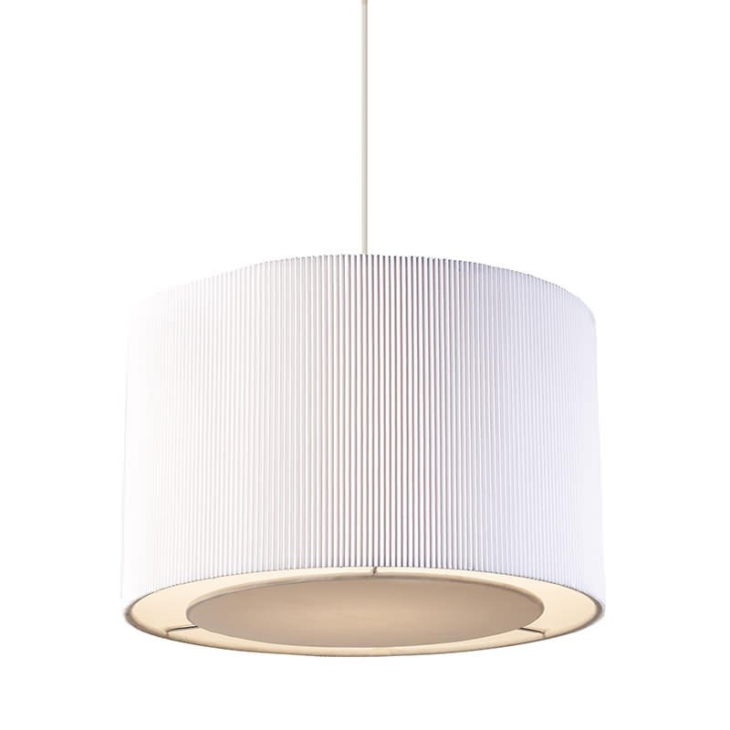 Endon-96043-WH - Colette - Big White Pleated Shade for Hanging Pendant