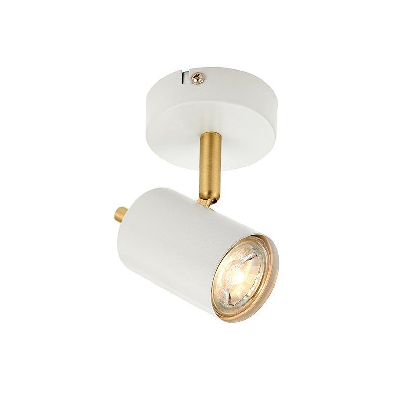 Endon-59931 - Gull - LED Matt White & Satin Gold Single Spotlight