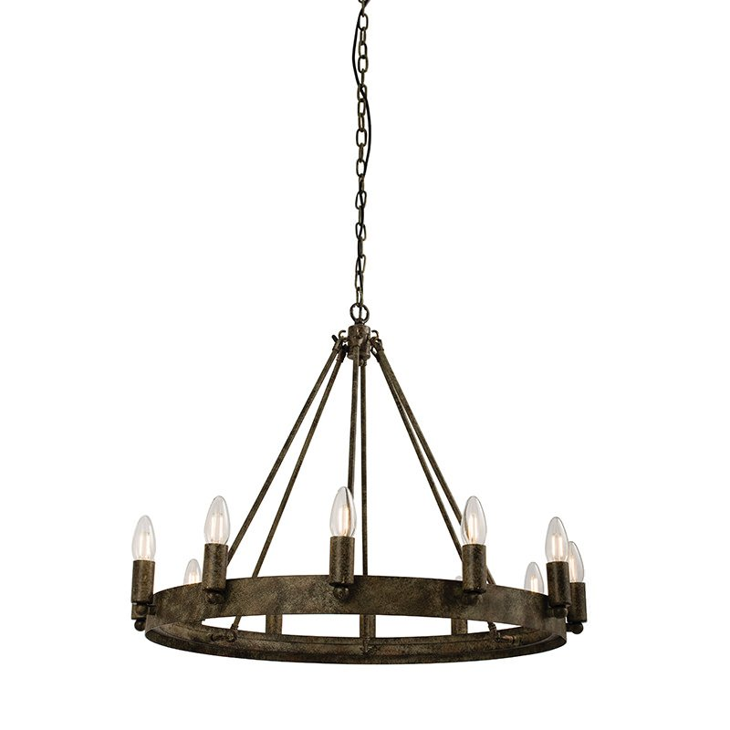 Endon-61026 - Chevalier - Aged Metal 12 Light Centre Fitting