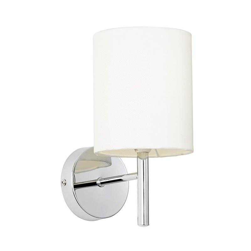 Endon-BRIO-1WBCH - Brio - Polished Chrome with White Shade Wall Lamp