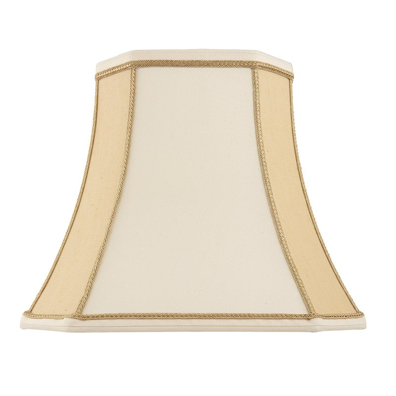 Endon-CAMILLA-10 - Camilla - 10 inch Two Tone Cream Fabric Shade for Table Lamp