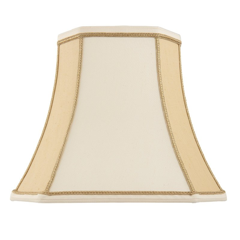 Endon-CAMILLA-16 - Camilla - 16 inch Two Tone Cream Fabric Shade for Table Lamp