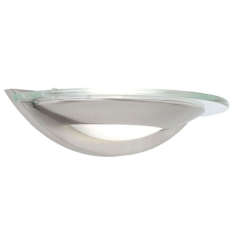 Endon-051-WBSC - Firenz - Satin Chrome with Glass Wall Lamp