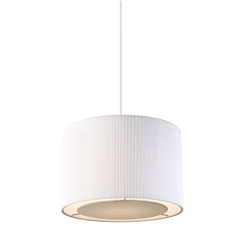 Endon-COLETTE-S-WH - Colette - Small White Pleated Shade for Hanging Pendant