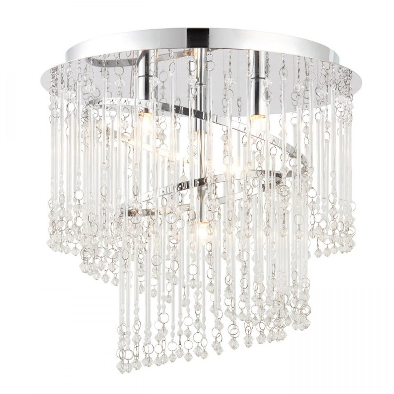 Endon-68698 - Camille - Crystal with Chrome 4 Light Ceiling Lamp