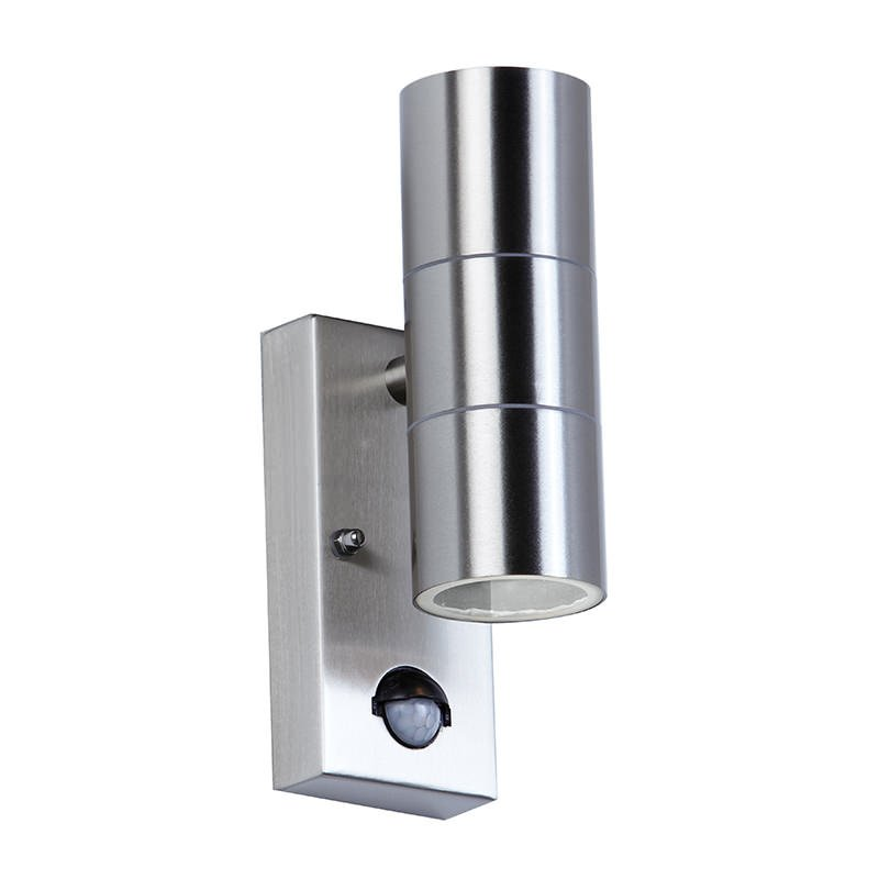 Endon-EL-40062 - Canon - Stainless Steel with PIR sensor Up&Down Wall Lamp