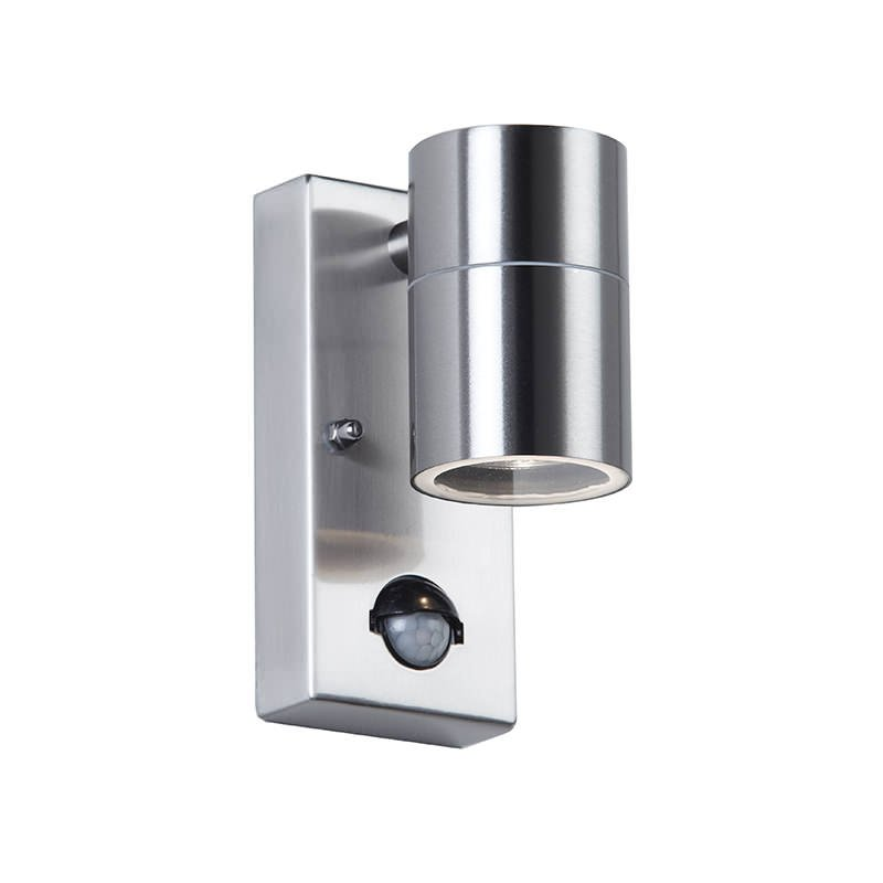 Endon-EL-40063 - Canon - Stainless Steel with PIR sensor Downlight Wall Lamp
