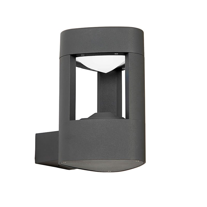 Saxby-EL-40074 - Tribeca - Textured Grey & Frosted Acrylic Wall Lamp