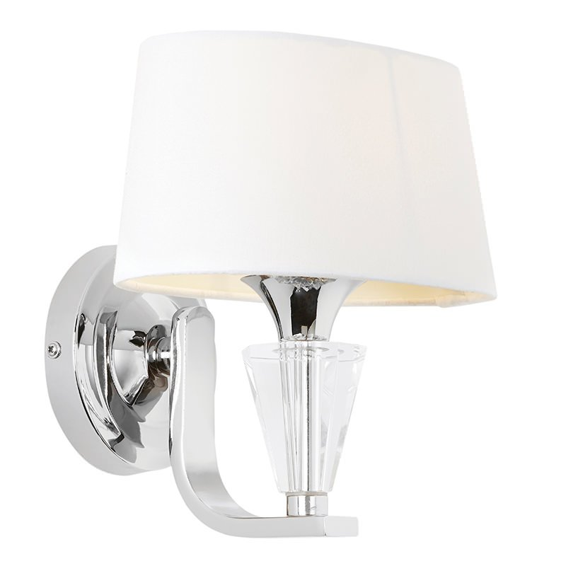 Endon-FIENNES-1WBNI - Fiennes - Vintage White with Chrome Wall Lamp