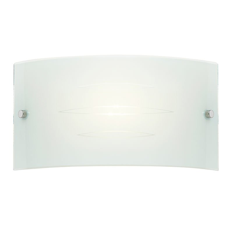 Endon-HADLEY-1WBWH - Hadley - Gloss White Patterned Glass Wall Lamp