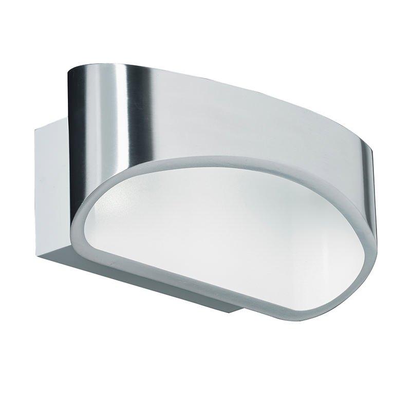 Endon-JOHNSON-CH - Johnson - LED Polished Silver & White Wall Lamp