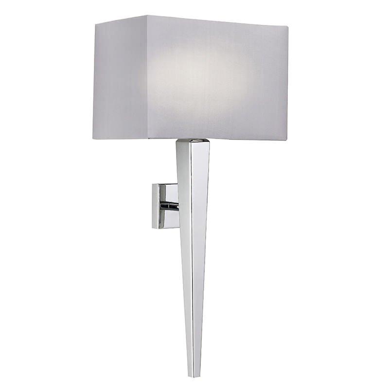Endon-MORETO-1WBCH - Moreto - Grey Shade with Polished Chrome Wall Lamp