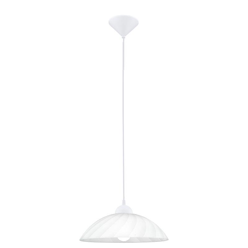 Eglo-82785 - Vetro - White Swirl Glass Single Hanging Pendant