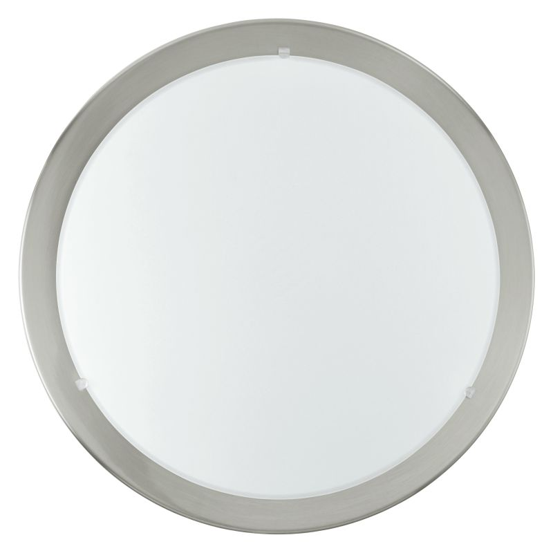 Eglo-82942 - Planet - Small Matt Nickel with Glass Ceiling Lamp