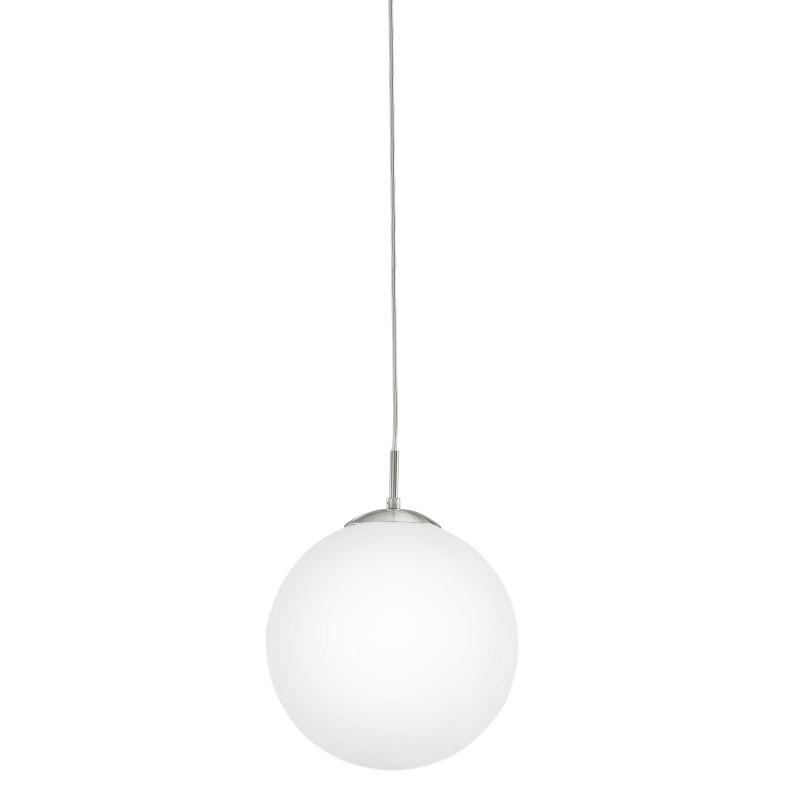 Eglo-85263 - Rondo - White Globe with Satin Nickel Pendant - Ø30