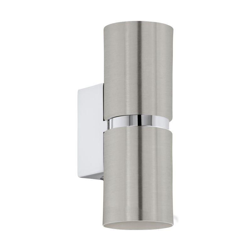 Eglo-96261 - Passa - Satin Nickel and Chrome Round Up&Down Wall Lamp