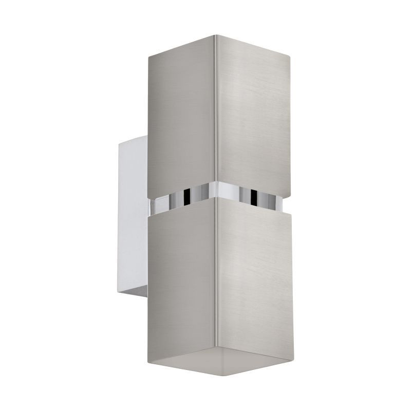 Eglo-96264 - Passa - Satin Nickel and Chrome Square Up&Down Wall Lamp