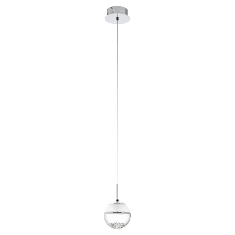 Eglo-93708 - Montefio - LED Glass with Crystal Globe Single Pendant