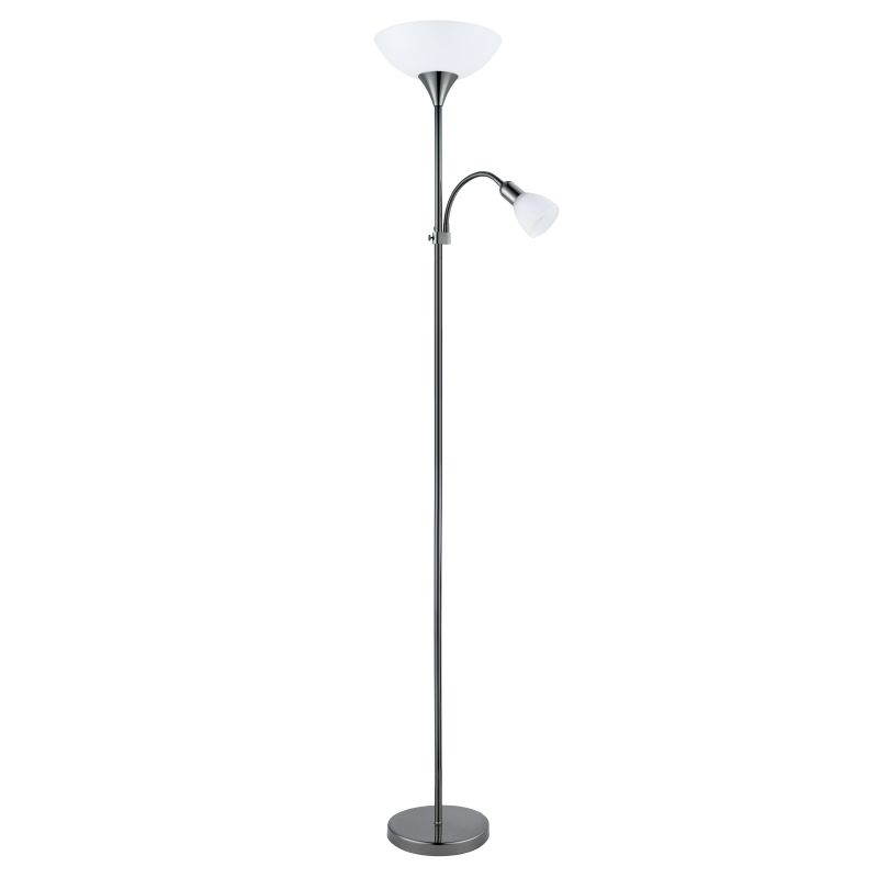 Eglo-93917 - Up 2 - Black Nickel Mother and Child Floor Lamp