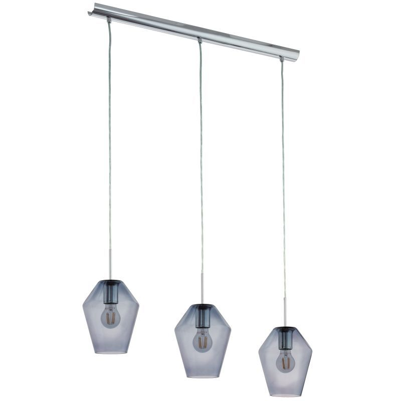 Eglo-96774 - Murmillo - Mirrored Glass with Chrome 3 Light over Island Fitting