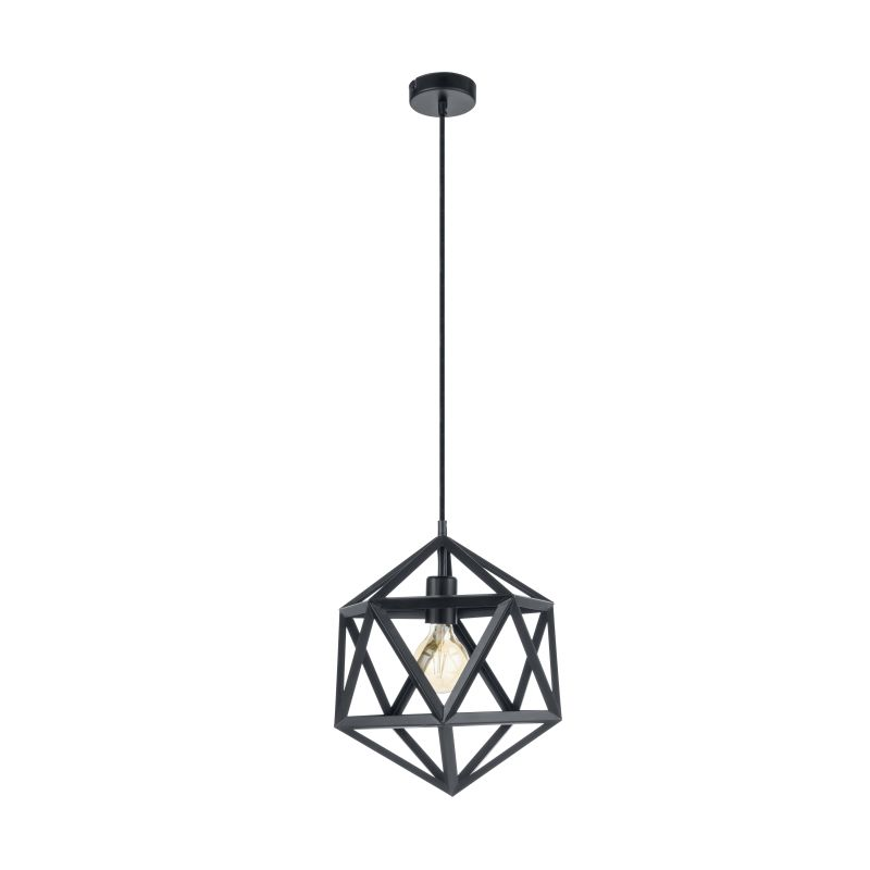Eglo-49761 - Embleton - Vintage Black Geometric Small Pendant