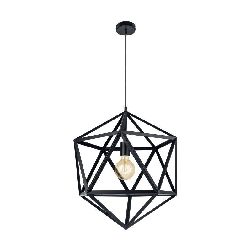 Eglo-49762 - Embleton - Vintage Black Geometric Big Pendant