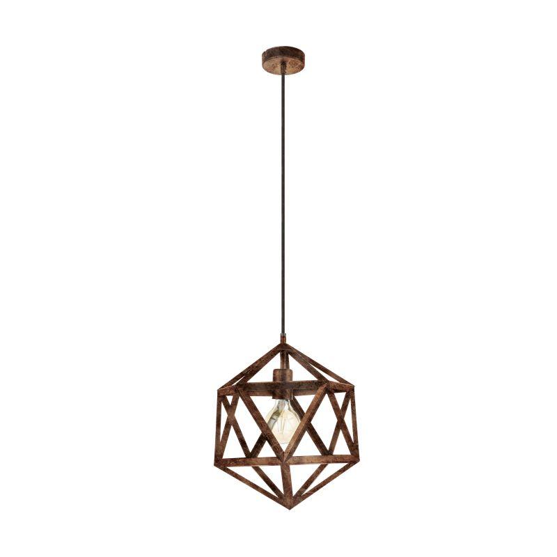 Eglo-49797 - Embleton - Vintage Antique Copper Geometric Small Pendant