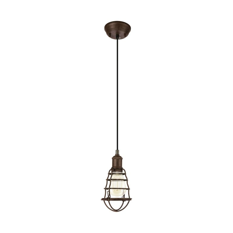 Eglo-49809 - Port Seton - Vintage Antique Brown Single Hanging Pendant