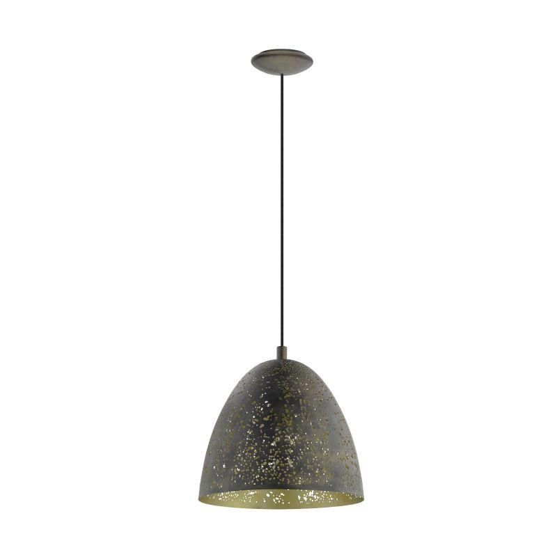 Eglo-49814 - Safi - Vintage Brown & Gold Single Small Pendant