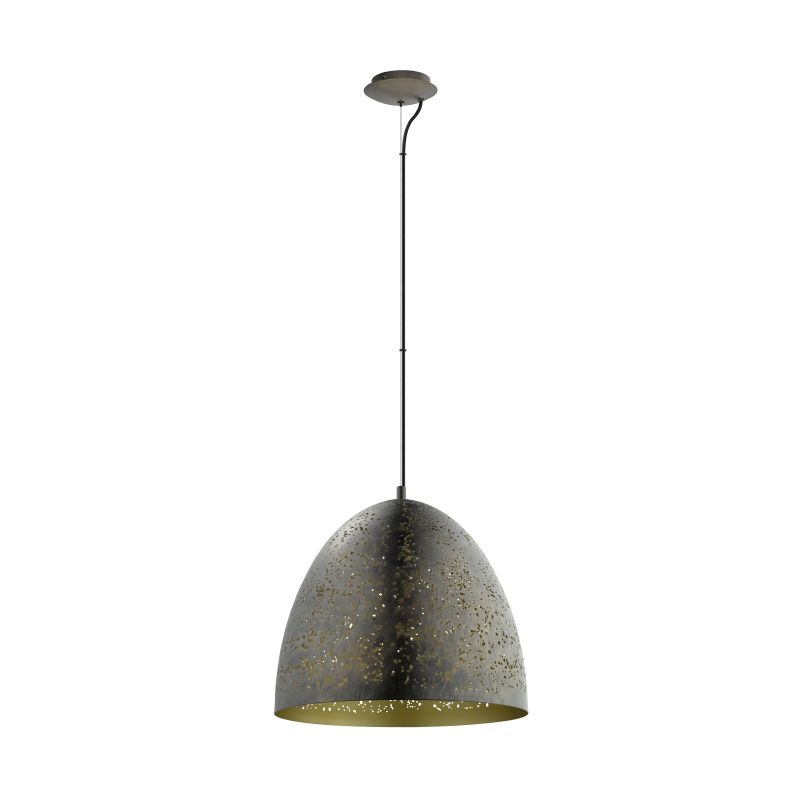 Eglo-49815 - Safi - Vintage Brown & Gold Single Big Pendant