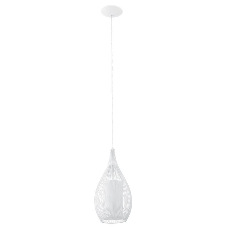 Eglo-92251 - Razoni - White Metal and Glass Single Pendant