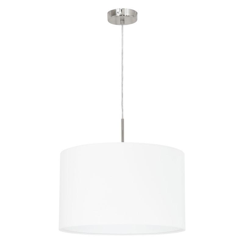 Eglo-31571 - Pasteri - White with Satin Nickel Single Pendant