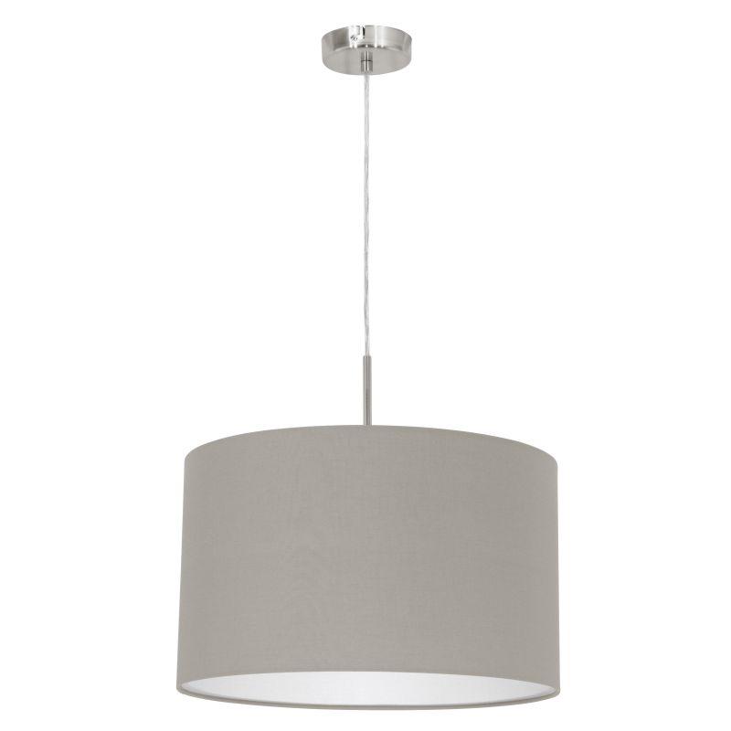 Eglo-31572 - Pasteri - Taupe & White with Nickel Single Pendant
