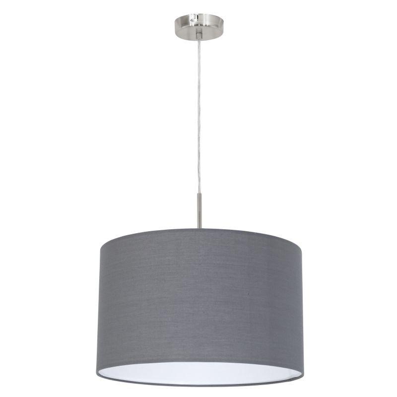 Eglo-31573 - Pasteri - Grey & White with Nickel Single Pendant